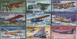 Umm Al Kaiwain 296A-304A (kompl.Ausg.) Postfrisch 1968 Geschichte Der Luftfahrt - Umm Al-Qaiwain