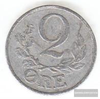 Denmark Km-number. : 833 1941 Very Fine Aluminum Very Fine 1941 2 Öre Gekröntes Monogram - Denmark