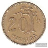 Finland Km-number. : 39 1954 Very Fine Aluminum-Bronze Very Fine 1954 20 Markkaa Leo In District - Finland