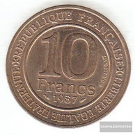 France Km-number. : 961 1987 Extremely Fine Nickel-Bronze Extremely Fine 1987 10 Francs Capet - K. 10 Francs
