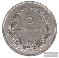 Greece Km-number. : 71 1930 Very Fine Nickel Very Fine 1930 5 Drachmen Phoenix - Greece