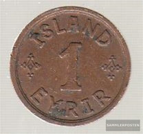 Iceland Km-number. : 5 1931 Extremely Fine Bronze Extremely Fine 1931 1 Eyrir Gekröntes Monogram - Iceland