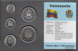 Venezuela Stgl./unzirkuliert Kursmünzen Stgl./unzirkuliert 1989-1990 25 Centimos Until 5 Venezuelan Bolivar - Venezuela