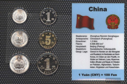 People's Republic Of China Stgl./unzirkuliert Kursmünzen Stgl./unzirkuliert 1983-2010 1 Fen Until 1 Yuan - Chine