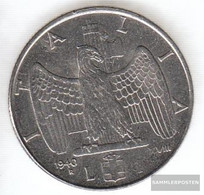 Italy Km-number. : 77 1942 Extremely Fine Steel Extremely Fine 1942 1 Lira Vittorio Emanuele III. - 1861-1946 : Kingdom