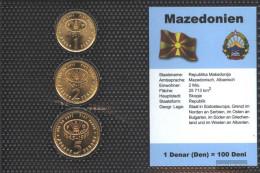 Makedonien 1995 Stgl./unzirkuliert Kursmünzen Stgl./unzirkuliert 1995 1 Denar Until 5 Denar - Macedonia