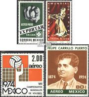 Mexiko 1409,1416,1431,1432 (kompl.Ausg.) Postfrisch 1974 Export, Messe, Volleyball, Puerto - México