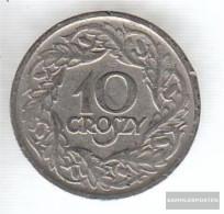 Poland Km-number. : 11 1923 Very Fine Nickel Very Fine 1923 10 Groszy Crowned Adler - Poland