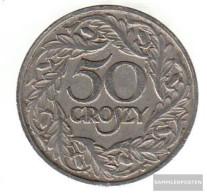 Poland Km-number. : 13 1923 Very Fine Nickel Very Fine 1923 50 Groszy Crowned Adler - Poland
