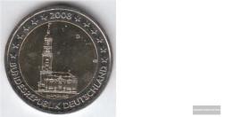 FRD (FR.Germany) Jägernr: 534 2008 D Stgl./unzirkuliert Stgl./unzirkuliert 2008 2 Euro Hamburger Michel - Allemagne