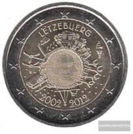 Luxembourg 2012 Stgl./unzirkuliert Stgl./unzirkuliert 2012 2 Euro 10 Years Euro Cash - Luxembourg
