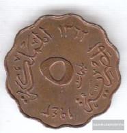 Egypt Km-number. : 360 1943 Very Fine Bronze Very Fine 1943 5 Milliemes Farouk - Egypt