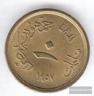 Egypt Km-number. : 381 1957 Very Fine Aluminum-Bronze Very Fine 1957 10 Milliemes Sphinx - Egypt
