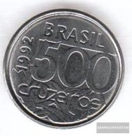 Brazil Km-number. : 624 1992 Extremely Fine Steel Extremely Fine 1992 500 Cruzeiros Turtle - Brazil