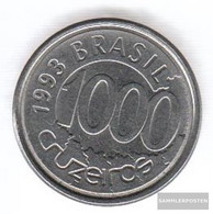 Brazil Km-number. : 626 1993 Extremely Fine Steel Extremely Fine 1993 1000 Cruzeiros Fish - Brésil