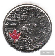 Canada Km-number. : New 0 2013 Stgl./unzirkuliert Steel, Coloriert Stgl./unzirkuliert 2013 25 Cents Farbmünze Elizabeth - Canada