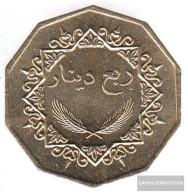 Libya Km-number. : 26 1369 Extremely Fine Nickel-brass Extremely Fine 1369 1/4 Dinar Reiter - Libya