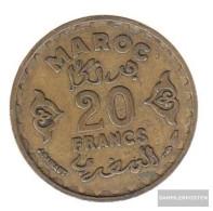 Morocco Km-number. : 50 1371 Very Fine Aluminum-Bronze Very Fine 1371 20 Francs Star - Marruecos