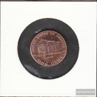 U.S. Km-number. : 441 2009 P Stgl./unzirkuliert Zinc, Copper Plattiert Stgl./unzirkuliert 2009 1 Cent Lincoln - Birthpla - 1959-…: Lincoln, Memorial Reverse