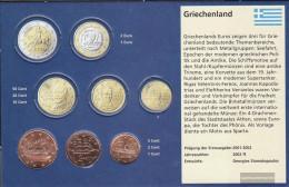 Greece GR1 - 3 Stgl./unzirkuliert Mixed Vintages Stgl./unzirkuliert Ab 2002 Kursmünze 1, 2 And 5 Cent - Greece