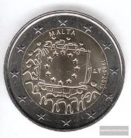 Malta 2015 Stgl./unzirkuliert Reprint: 300.000 Stgl./unzirkuliert 2015 2 Euro 30 Years Europaflagge - Malta