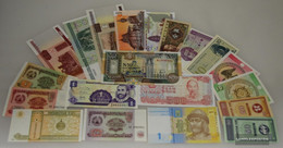 All World 20 Different Bankfrische Banknotes Uncirculated - Banknotes