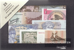 All World 25 Different Banknotes  Out 25 Different Countries - Banknotes