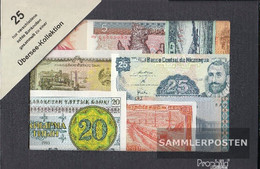 All World 25 Different Banknotes  Out Overseas - Banknotes