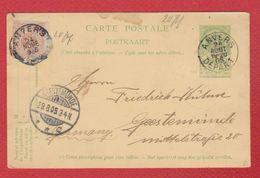 Belgique -  Entier Postal  - De Anvers  -  Pour Geestemunde  -  29/8/1905 - Entiers Postaux