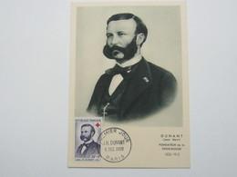 1958 ,  H. Dunant, Carte  Maximum Croix Rouge - Cartoline Maximum
