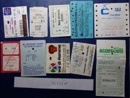 LOTTO 10 BIGLIETTI USATI FUNIVIE SEGGIOVIE SKYPASS (SC233 - Biglietti Di Trasporto