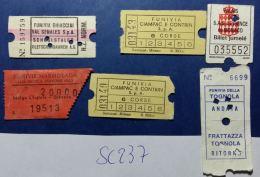 LOTTO 6 BIGLIETTI USATI FUNIVIE SEGGIOVIE SKYPASS (SC237 - Biglietti Di Trasporto