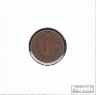 Deutsches Reich Jägernr: 306 1924 A Sehr Schön Bronze Sehr Schön 1924 1 Rentenpfennig Ährengarbe - 1 Rentenpfennig & 1 Reichspfennig
