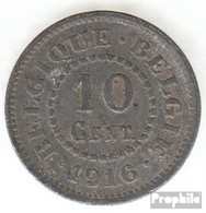 Belgien KM-Nr. : 81 1916 Sehr Schön Zink Sehr Schön 1916 10 Centimes Deutsche Besetzung I. W - 1909-1934: Albert I.