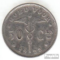 Belgien KM-Nr. : 88 1923 Sehr Schön Nickel Sehr Schön 1923 50 Centimes Knieende Allegorie - 1909-1934: Albert I.