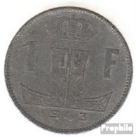 Belgien KM-Nr. : 128 1942 Sehr Schön Zink Sehr Schön 1942 1 Franc Löwe Auf Schild - 1934-1945: Leopold III.