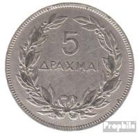 Griechenland KM-Nr. : 71 1930 Sehr Schön Nickel Sehr Schön 1930 5 Drachmen Phönix - Grèce