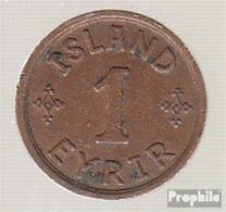 Island KM-Nr. : 5 1926 Vorzüglich Bronze Vorzüglich 1926 1 Eyrir Gekröntes Monogramm - Island