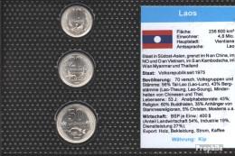 Laos 1980 Stgl./unzirkuliert Kursmünzen Stgl./unzirkuliert 1980 10 Cents Bis 50 Cents - Laos