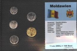 Moldawien Stgl./unzirkuliert Kursmünzen Stgl./unzirkuliert 2000-2006 1 Ban Bis 50 Bani - Moldavie