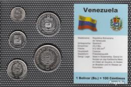 Venezuela Stgl./unzirkuliert Kursmünzen Stgl./unzirkuliert 1989-1990 25 Centimos Bis 5 Bolivar - Venezuela