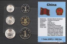 Volksrepublik China Stgl./unzirkuliert Kursmünzen Stgl./unzirkuliert 1983-2010 1 Fen Bis 1 Yuan - Cina