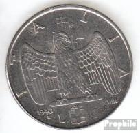 Italien KM-Nr. : 77 1940 B Vorzüglich Stahl Vorzüglich 1940 1 Lira Vittorio Emanuele III. - 1900-1946 : Victor Emmanuel III & Umberto II