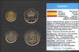 Spanien 1975 Stgl./unzirkuliert Kursmünzen Stgl./unzirkuliert 1975 1 Peseta Bis 50 Pesetas - [5] 1949-…: Monarchie