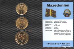 Makedonien 1995 Stgl./unzirkuliert Kursmünzen Stgl./unzirkuliert 1995 1 Denar Bis 5 Denar - Macedonia