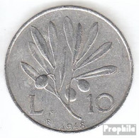Italien KM-Nr. : 90 1948 Sehr Schön Aluminium Sehr Schön 1948 10 Lire Pegasus - 1946-…: Republik