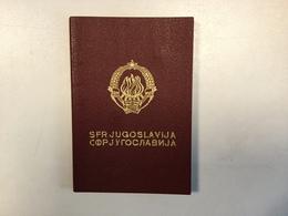 PASSPORT   REISEPASS  PASSAPORTO   YUGOSLAVIA  1979. - Historische Dokumente