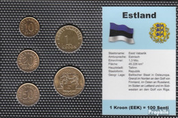 Estland Stgl./unzirkuliert Kursmünzen Stgl./unzirkuliert 1992-2004 10 Senti Bis 5 Krooni - Estland