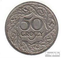 Polen KM-Nr. : 13 1923 Sehr Schön Nickel Sehr Schön 1923 50 Groszy Gekrönter Adler - Polen