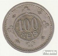 Portugal KM-Nr. : 546 1900 Sehr Schön Kupfer-Nickel Sehr Schön 1900 100 Reis Gekröntes Wappen - Portugal